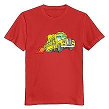 Men Magic School Bus Custom Regular Size L Color Red Tee By Mjensen