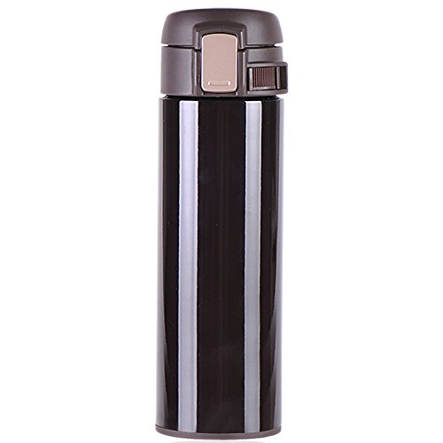 Travel Coffee Mug Stainless Steel Vacuum Insulated Thermos 14 Ounce Brown New Version