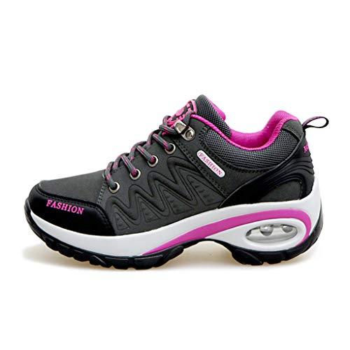 Walking Shoes Slip Trekking Jones Comfort Height Shoes Hiking Giles gray Increase Women's Anti WH8APPza