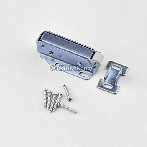 10PCS Spring Door Catches Touch Latch Catch for Cabinet Cupboard Wardrobe Door Press To Open Silver Tone by Kasuki (Image #6)