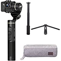 Feiyu G6 3-Axis Handheld Splashproof Gimbal with Extension Rod, Gimbal Bag and Mini Tripod, WIFI Bluetooth Connection, 12Hrs Runtime, OLED Screen, No Blocks in Visual, Trail Time-Lapse Photography