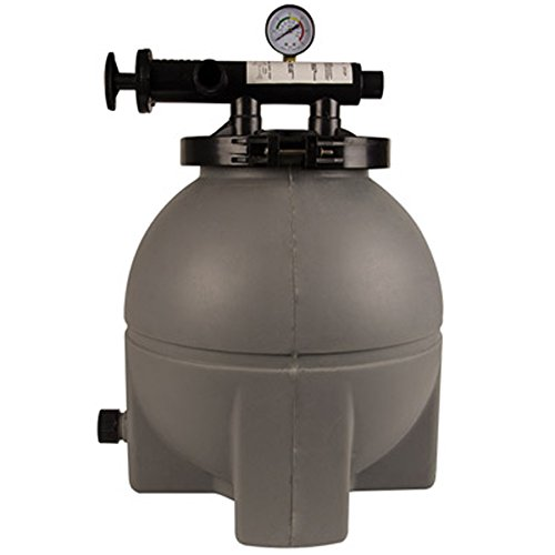 Rx Clear Patriot Sand Filter | Compatible with Intex/Pop Up Above Ground Pools | 8 Inch | 25 Lb Sand Capacity | for Pools Up to 6,000 Gallons