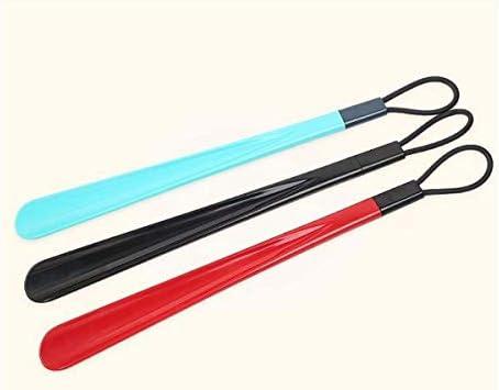 PNBHD 靴べら、50cmのプラスチック製靴べら、携帯用靴べら、家庭用品、3色から選択 (色 : ブラック)
