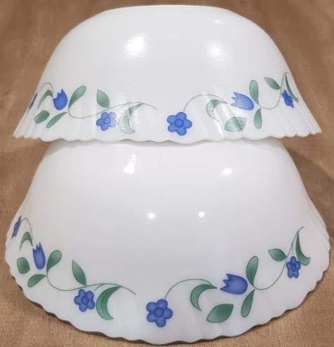 La Opala Classique Medium Serving Bowl, 1.5 litres, Juniper Blue