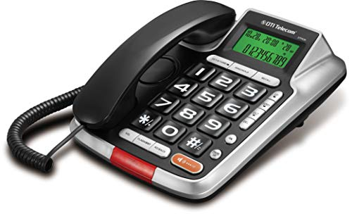 DTI DTP035 Big-Button Corded Phone with Caller ID, Speakerphone, Hands-Free Dialing and Speaking Function, 16 Outgoing Call Memories, LCD Display and 20 Ringer Tone Selection (Control Phone Volume Corded)