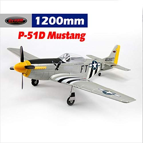 Dynam RC Airplane P-51 Mustang V2 Silver 1200mm Wingspan for sale  Delivered anywhere in Canada