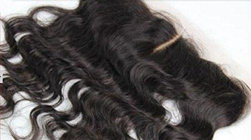 DaJun 6A Mid-Part 13''*4'' Lace Closure European Human Hair Body Wave Natural Colour (trademark:DaJun) by DaJun