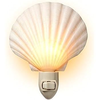 seashell bathroom lighting fixtures. natural seashell night light - beach decor by tumbler home bathroom lighting fixtures
