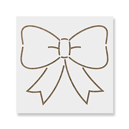 Bow Ribbon Stencil Template - Reusable Stencil with Multiple Sizes - Stencil Ribbon