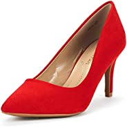 DREAM PAIRS Women's Kucci Classic Fashion Pointed Toe High Heel Dress Pumps S