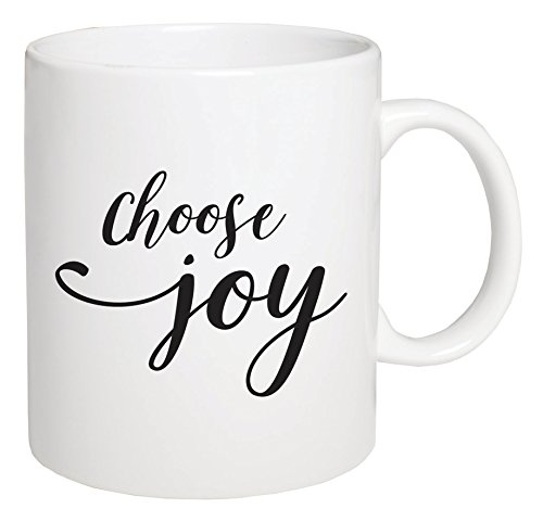 - P. Graham Dunn Choose Joy Script White 5.5 x 4.5 Ceramic 15 Ounce Coffee Mug