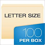 Pendaflex 752 File Folders, Straight Cut, Top