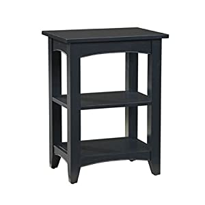 Alaterre ASCA02BL Shaker Cottage 2 Shelf End Table, Charcoal Gray