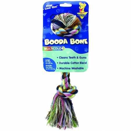 Pet Booda Aspen Bone - Aspen Pet Booda Multicolor Large Rope Bone for Dogs 44-85lbs