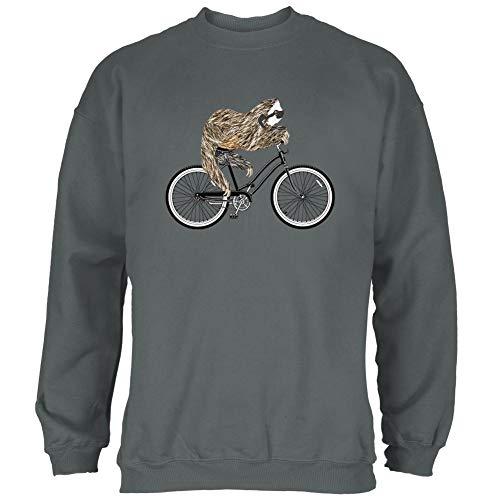 Bicycle Sloth Mens Sweatshirt Charcoal X-LG