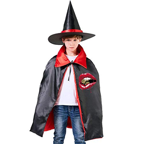 Classic Kiss Of Death Kids Halloween Costumes Witch Wizard Cloak With Hat Wizard Cape -