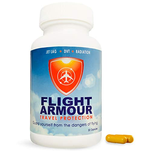 FLIGHT ARMOUR - Jet Lag Prevention+ Feet & Leg Swelling Relief (Feel Like You Never Flew) | Blood Clotting Prevention | Superior Travel Recovery | Remedy, Pill, Flying, Circulation, Compression - Pack Jet Flight