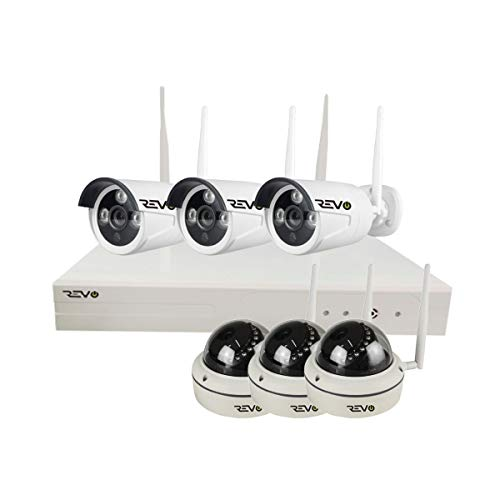 REVO America RW81D3GB3G-1T Wireless 8CH. Security System - 1TB HDD Full-HD Wi-Fi NVR, 3 x 1080P Bullet & 3 x 1080P Dome Cameras - Remote Access Via Smart Phone, Tablet and Pc