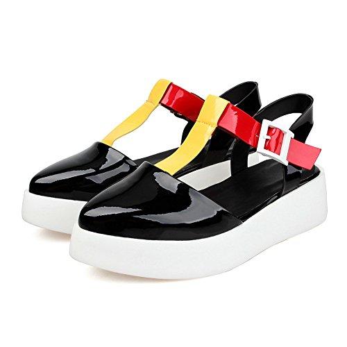 Noir Noir 36 Compensées 1TO9 Sandales 5 Femme g1nt6