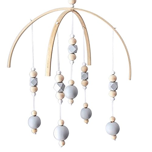 le Crib Bed Bell Baby Bedroom Ceiling Wooden Beads Wind Chime Hanging Ornament (#13) ()