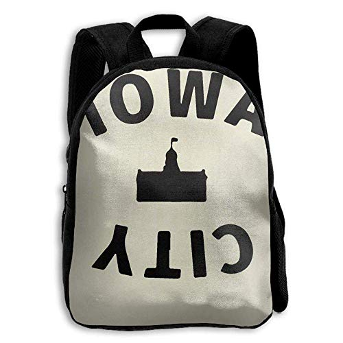 Iowa City Kids Backpack,School Bag Student Casual Nylon Backpack for Primary School -