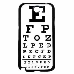 Eye Chart TPU RUBBER SILICONE Phone Case Back Cover Samsung Galaxy Note II 2 N7100