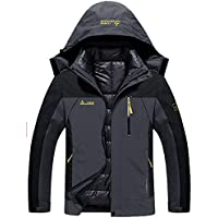 YXP Men's Double Layer Waterproof Puff Liner Jacket