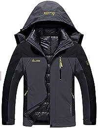 Men's Double Layer Jacket Waterproof Puff Liner Winter Cotton Coat