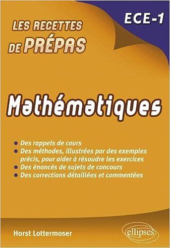 Livre Mathématiques - ECE 1re année pdf, epub
