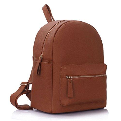 Xardi London - Bolso mochila  de Otra Piel para mujer mediano marrón
