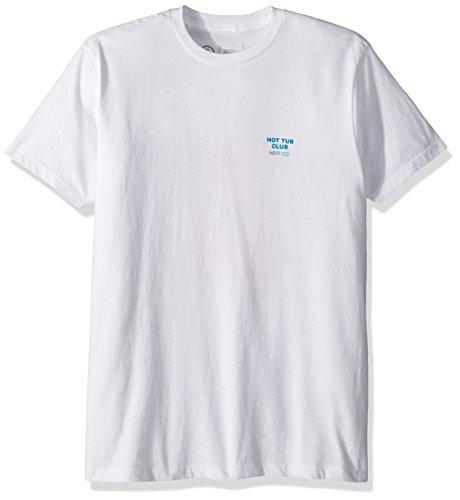 NEFF Men's Hot Tub Club Short Sleeve Tee Shirt, White, (Wholesale Designer T-shirts)