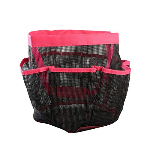 Nivalkid 1PC Creative Foldable 8 Grid Oxford Fine Mesh Storage Bag for Bathroom Washing Storage Bag Grid Storage Tote Toiletries Organizer -The Perfect Bathtub Toy Holder ()