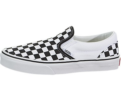 Vans Kids Classic Slip-On (Checkerboard) Black/True White VN000ZBU5GU Size -
