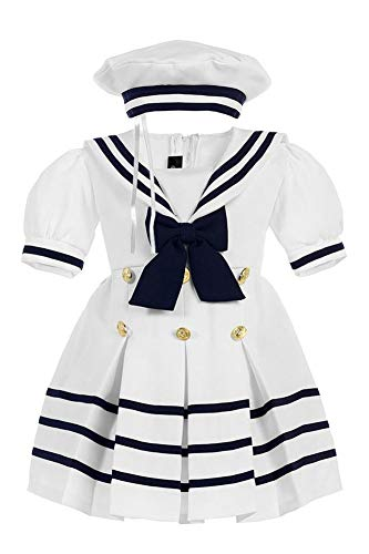 iGirldress Baby Toddler Girls Nautical Sailor Dress with Hat 12mos ()