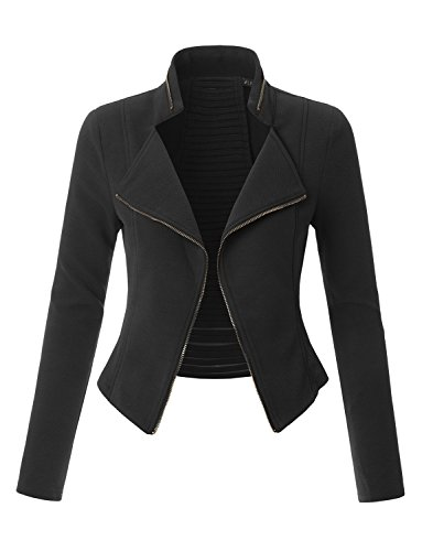 Textured Cropped Jacket (LE3NO Womens Textured Long Sleeve Open Front Cropped Blazer Jacket With Cutout Back)