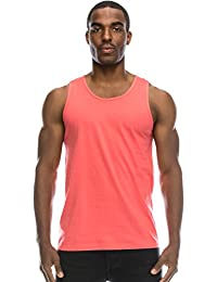 ffd3686866ef4 Mens Basic Solid Tank Top Jersey Casual Shirts (Size Upto 3XL