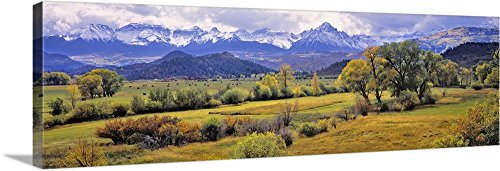 Ric Ergenbright Premium Thick-Wrap Canvas Wall Art Print entitled Colorado, Ridgway. just below the San Juan Mountains in Colorado 60