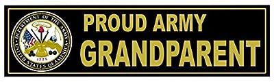"1-Pcs Spruce Trendy U.S. Proud Army Grandparent Sticker Signs Home Locker Window Size 11"" x 3"""