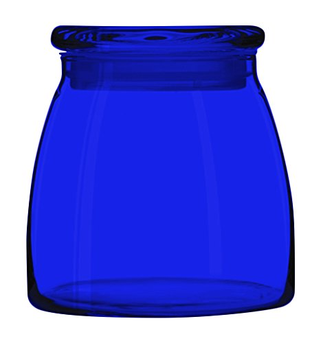 (Libbey 71366 Vibe 42-Ounce Glass Storage Jars - Full Color Cobalt Blue - Additional Vibrant Colors Available by TableTop King)
