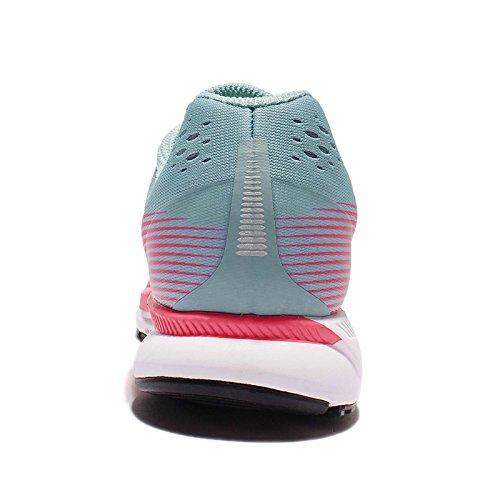 Nike Damen Air Zoom Pegasus 34 Laufschuh Mica Blau / Weiß / Racer Pink / Sport Fuchsia