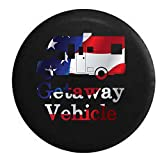 Pike Flag - Getaway Vehicle Funny Travel RV Camper Trailer Spare Tire Cover OEM Vinyl Black 31 in