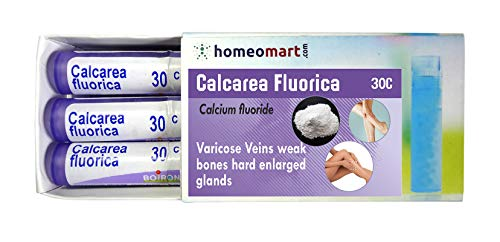 HomeopathyCalcarea Fluorica 30C Pills for varicose Veins, weak Bones, Hard Enlarged Glands. Pack of 3, Sealed Boiron 4g Tubes