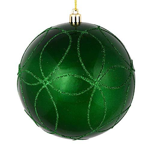 Green Glitter Ball - Vickerman 537411-6