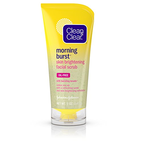 Clean & Clear Morning Burst Skin Brightening Facial Scrub For Clear Skin, 5 Oz.