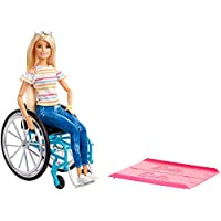Barbie Fashionistas Doll, Blonde with Rolling Wheelchair and Ramp for 3 to 8 Year Olds