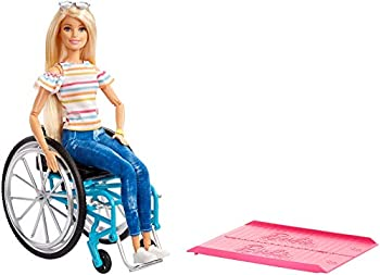 Barbie Fashionistas Doll, Blonde with Rolling Wheelchair and Ramp