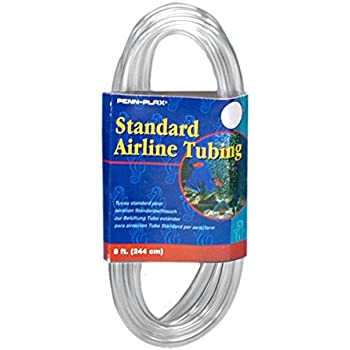 Penn Plax Airline Tubing for Aquariums –Clear and Flexible Resists Kinking, 8 Feet Standard
