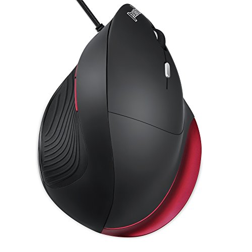Large Right Handed Mouse - Perixx PERIMICE-518R Wired USB Ergonomic Vertical Mouse - Right Handed Design - for Large Hands - 5 Programmable Buttons
