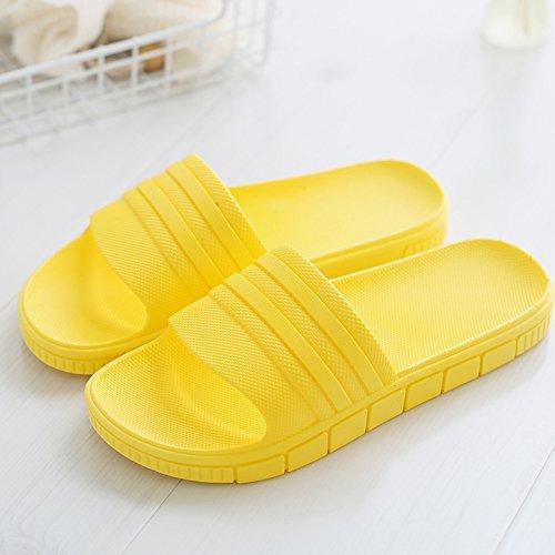 home uomini Giallo4 indoor anti Il pantofole DogHaccd bagno usura estate pantofole soggiorno le home di slittamento pantofole spesso coppie bagno donne plastica X6xvqXwWz1