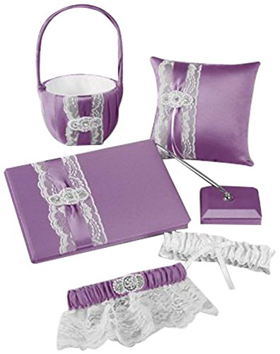 Pearl Lace Collection Set Style DB86GS, White by David's Bridal